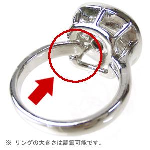 スワロフスキーリングの指輪のサイズは調節可能です