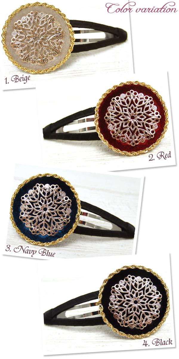 アンティーク風スリーピンは、編みこみヘアアレンジと相性バツグン
