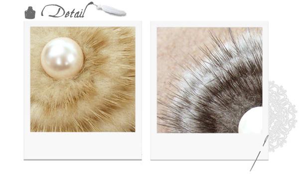 可愛いヘアスタイルが簡単にできるパールとファーのヘアゴム