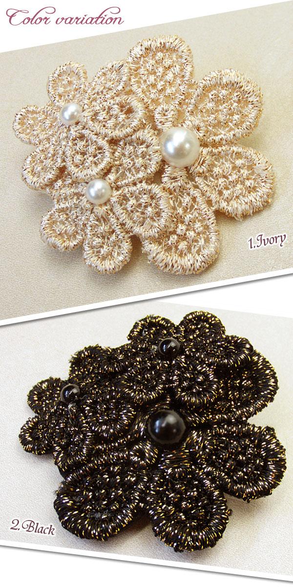 編みこみ、三つ編みヘアのアクセントに人気!お花のスリーピン