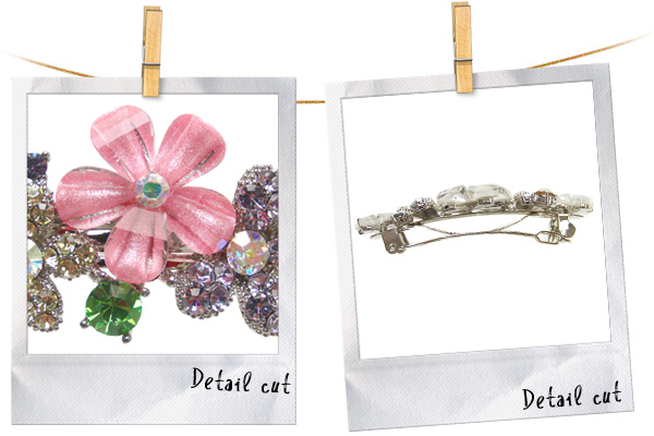 ハーフアップ、盛りヘアが簡単にできる、お花のミニバレッタ