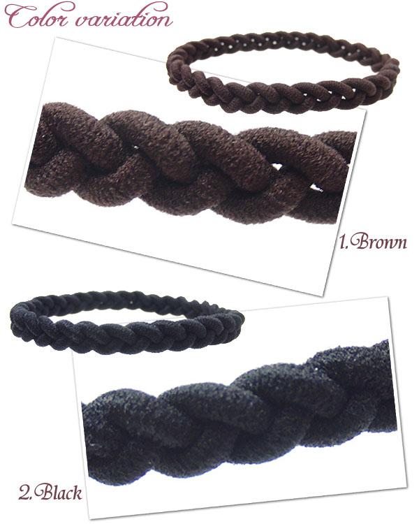 まとめ髪が簡単にできる!三つ編みヘアゴム
