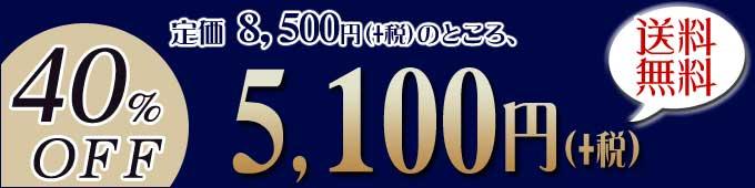 40%off定価8,500円+税のところ、5,100円+税