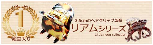 3.5cmのヘアクリップ革命 リアムシリーズ